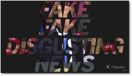 Fake, Fake, Disgusting News says Trump the fascist
