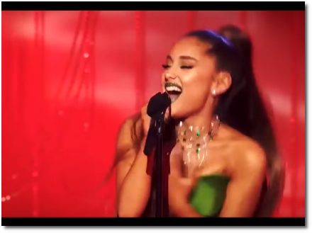 Ariana singing the very end of the Wizard and I (29 Oct 2018)