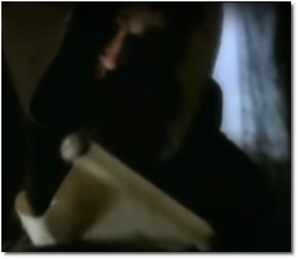 The Medici finding ancient scrolls of lost secrets from the ancient world (at t=3:50).