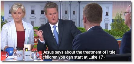 Coffee Joe cites scripture from Luke's gospel regarding the treatment of children at border detention facilities in Texas (24 June 2019)