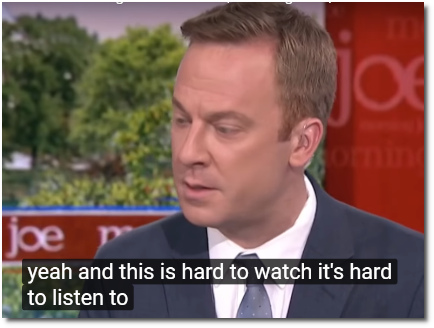 Jonathan Lemire says this is hard to watch and hard to listen to (24 June 2019)
