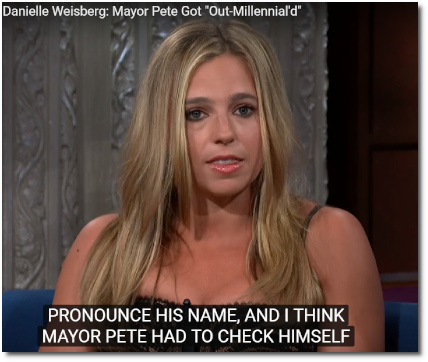 Danielle Weisberg of theSkimm says Mayor Pete got out-Millennial'd by Eric Swalwell's call for Joe Biden to Pass-the-Torch to a new generation of Americans (28 June 2019)