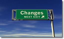 Changes Next Exit Road Sign