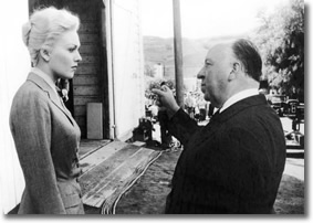 Behind the scenes with Alfred Hitchcock directing an actress