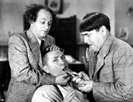 Three Stooges pulling a tooth