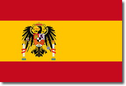 Spain flag superimposed with German insignia