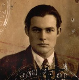 Ernest Hemingway's 1923 Passport Photo