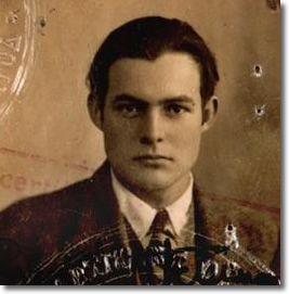 Ernest Hemingway's Passport Photo from 1923 (age 24)