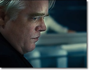 Philip Seymour Hoffman with a far-off stare