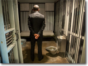Obama in a Jail Cell
