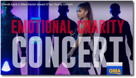 Ariana back in Manchester ahead of tomorrow's emotional charity concert