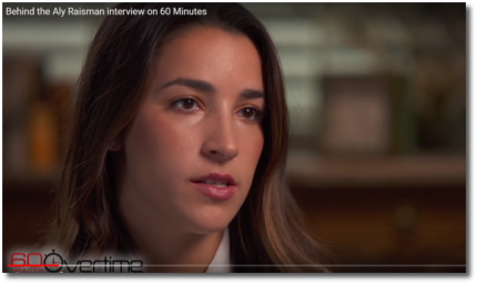 Aly Raisman 60 Minutes interview Nov 12, 2017