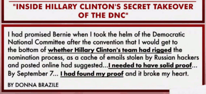 Donna Brazile found solid proof that Hillary rigged the primary nomination process against Bernie (t=2:50)
