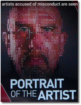 Self-portrait of Chuck Close who is an artist who has been accused of misconduct