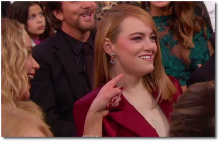 JLaw and Emma Stone at the 2018 Oscars Dolby Theater Los Angeles March 4th
