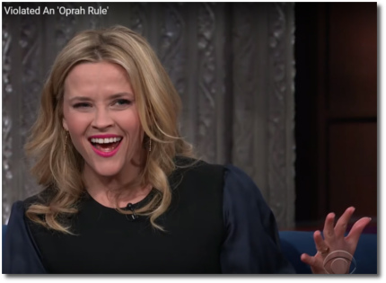 Reese Witherspoon violated Oprah's rule about chewing gum around her