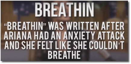 Breathin written after an anxiety attack