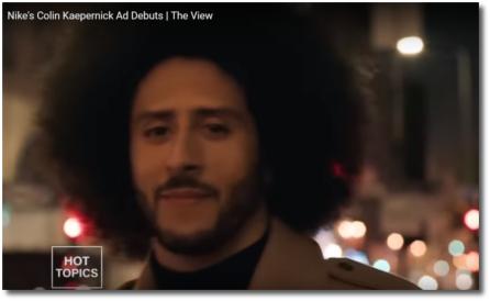 Nike debuts Colin Kaepernick ad (6 Sept 2018) Crazy enough?