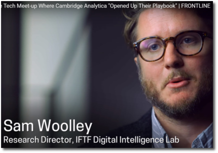 Sam Woolley talks the Cambridge Analytica playbook of psycho-graphic marketing